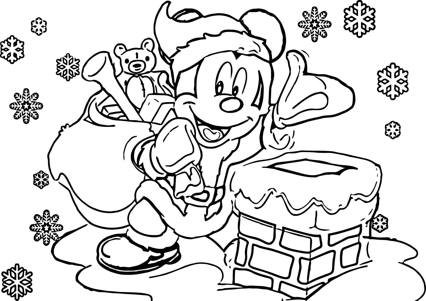 Disney Christmas Coloring Pages | Wecoloringpage.com
