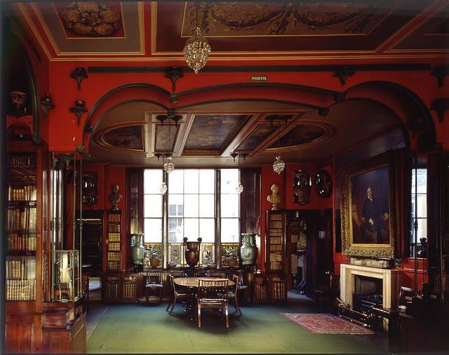 Library Dining Room.John Soane's Museum.Copyright: Martin Charles