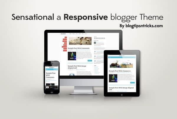 Sensational Responsive blogger template