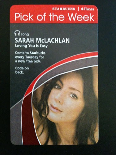 Starbucks iTunes Pick of the Week - Sarah McLachlan - Loving You Is Easy