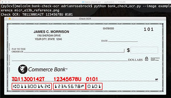 i am inside nothing: Bank check OCR with OpenCV and Python