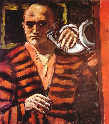 Self-portrait with Horn, 1938-1940, Max Beckmann