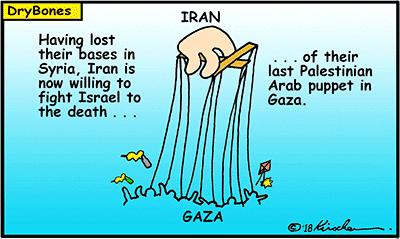 Dry Bones cartoon, Iran, Syria, Gaza, terror, terrorism, Hamas, Israel,