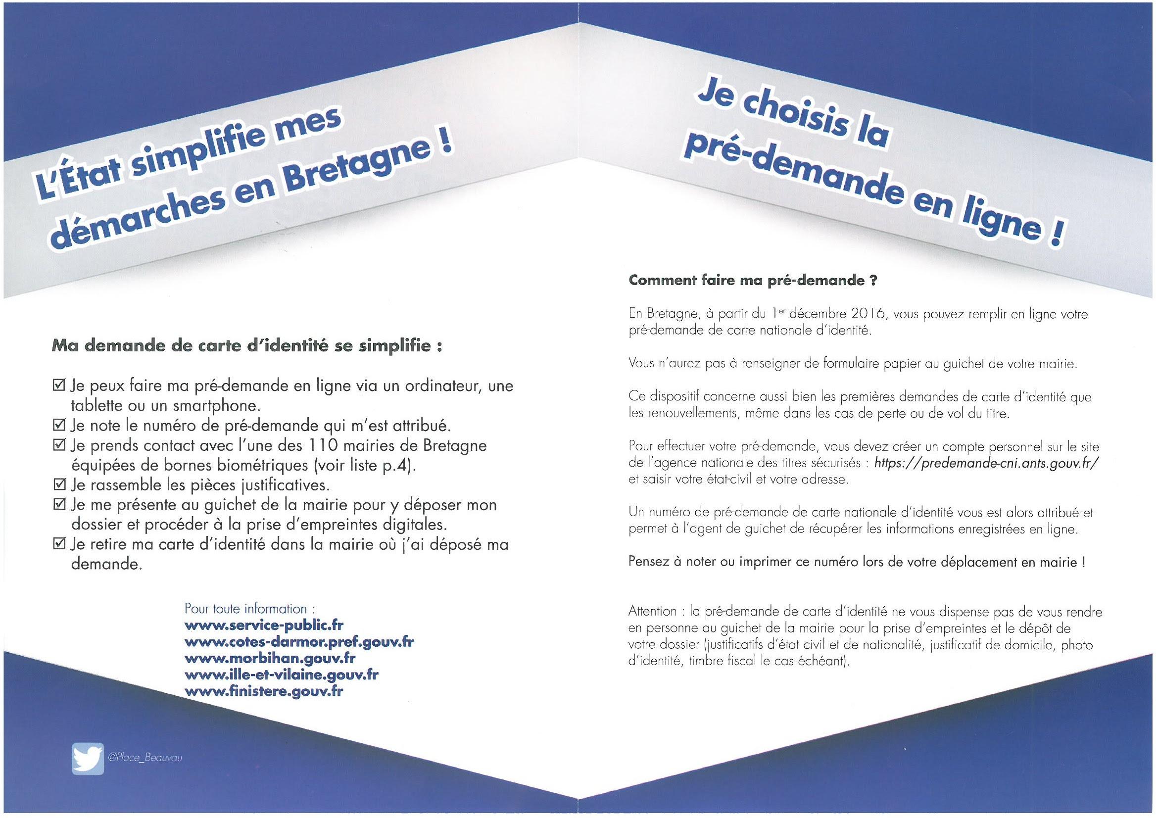 Démarches Administratives Commune Du Juch Le Juch Site
