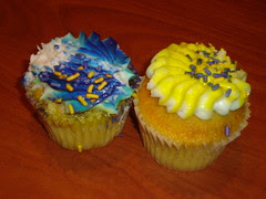 Purple and Gold Cupcakes
