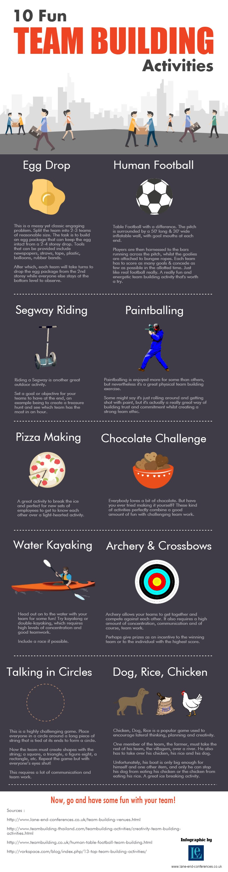 Infographic: 10 Fun Team Building Activities