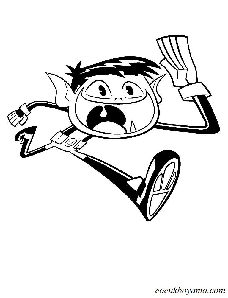 Teen Titans Go ücretsiz Boyama Resimleri