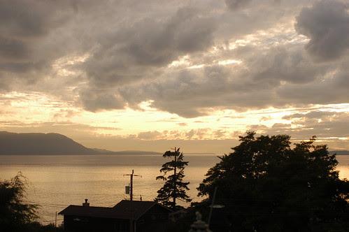the island - sunset