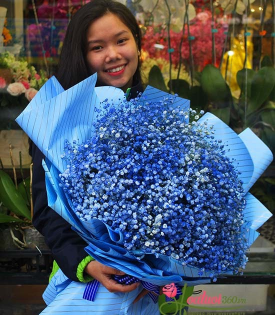 Bó hoa baby xanh dương - Hy vọng | Hoa Tươi Quận 3