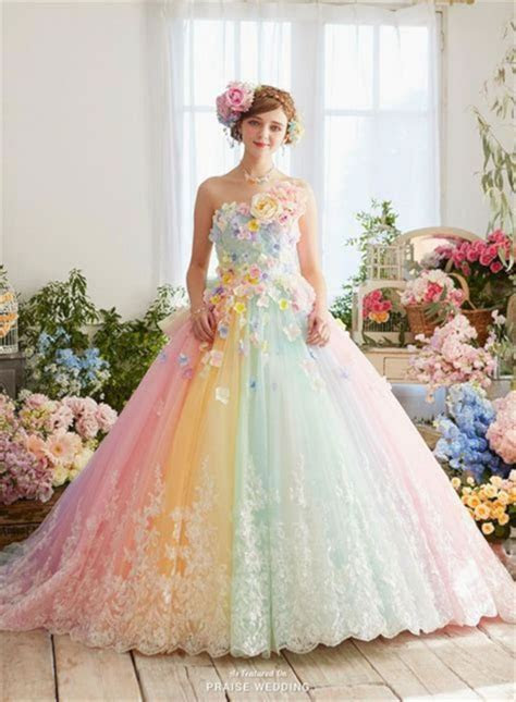 Wonderful 30 Pastel Wedding Dresses Design For Bride Looks