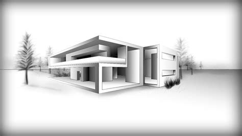 architecture design  drawing  modern house youtube