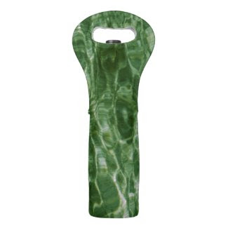 Abstract Green Water Wine Bags