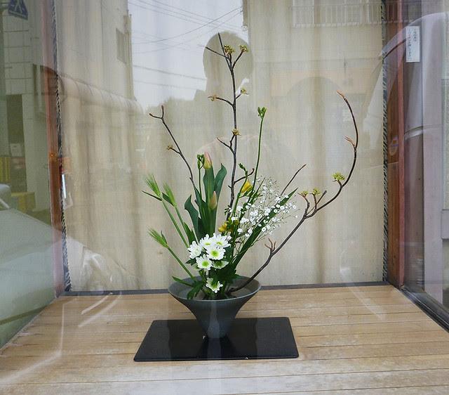 【盛花】ムシカリ、チューリップ、菊