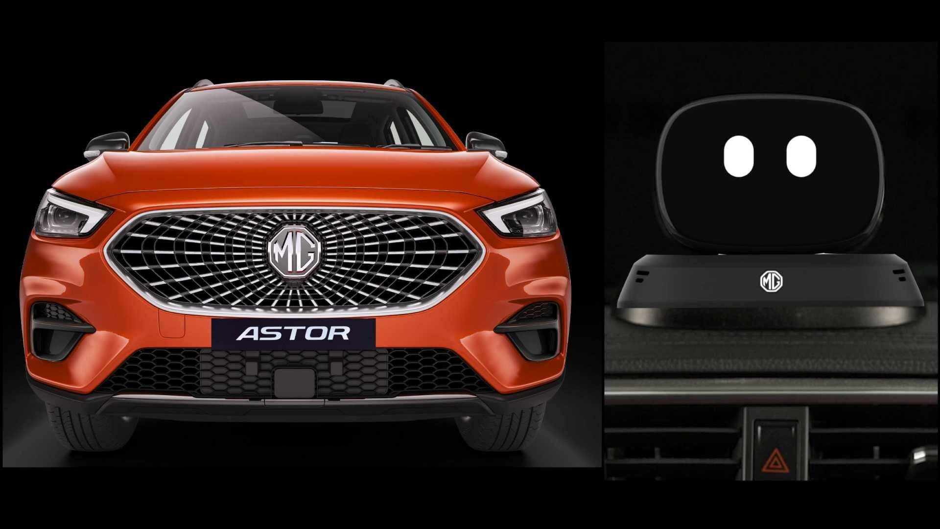 The MG Astor is the first SUV in India to feature an AI-powered robot inside the vehicle. Image: MG Motor India