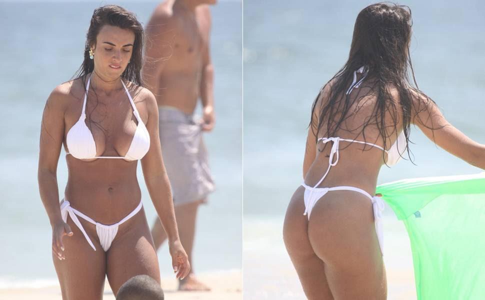 Você acha que Nicole Bahls usou o menor biquíni do verão? Vote!