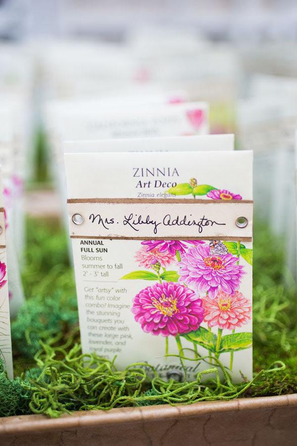 semi escort card matrimonio botanico