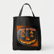 Scary Pumpkin Trick or Treat Canvas Bag bag