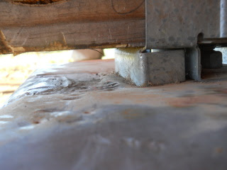 Uneven Pier Concrete Under Termite Shield