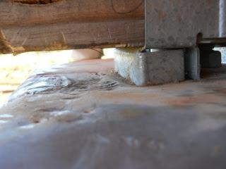 Uneven Pier Concrete Under Termite Shield