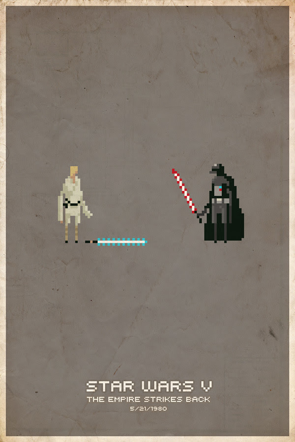 Empire Strikes Back Pixel Poster
