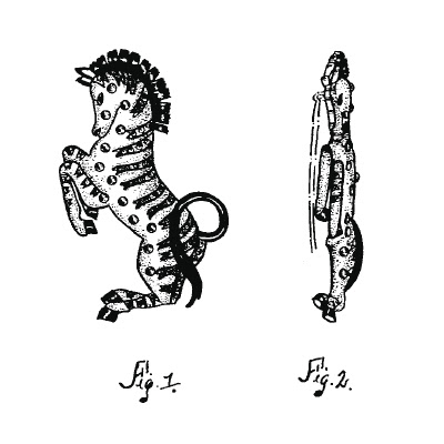 Trifari Zebra Brooch Drawing, Patent 131242