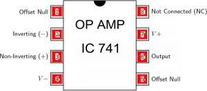 op amp pin diagram