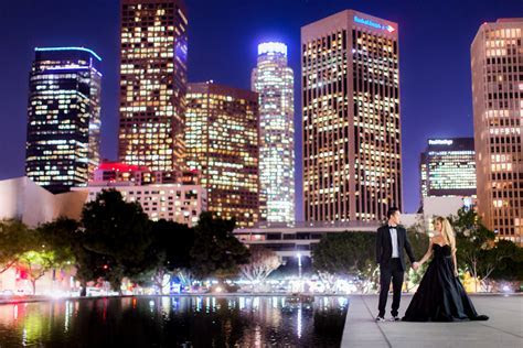 Downtown Los Angeles Engagement   Nikki & Wynn