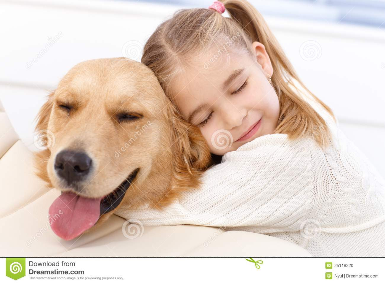 Little Girl Hugging Dog Quotes