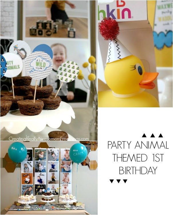 Party Animal 1st Birthday Craft