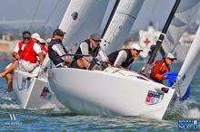 J/70 sailboats- sailing off San Diego