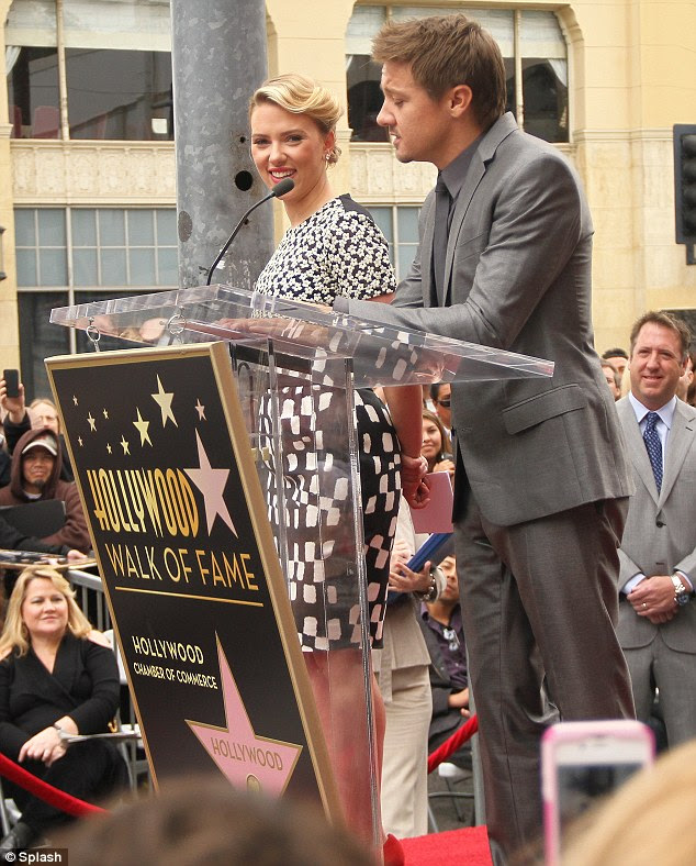 Kind words: The actor also did a speech at the ceremony