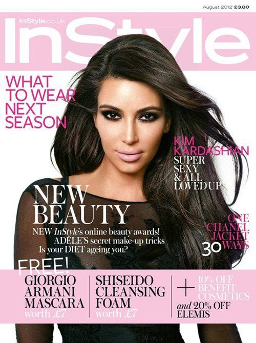 InStyle UK - August 2012, Kim Kardashian