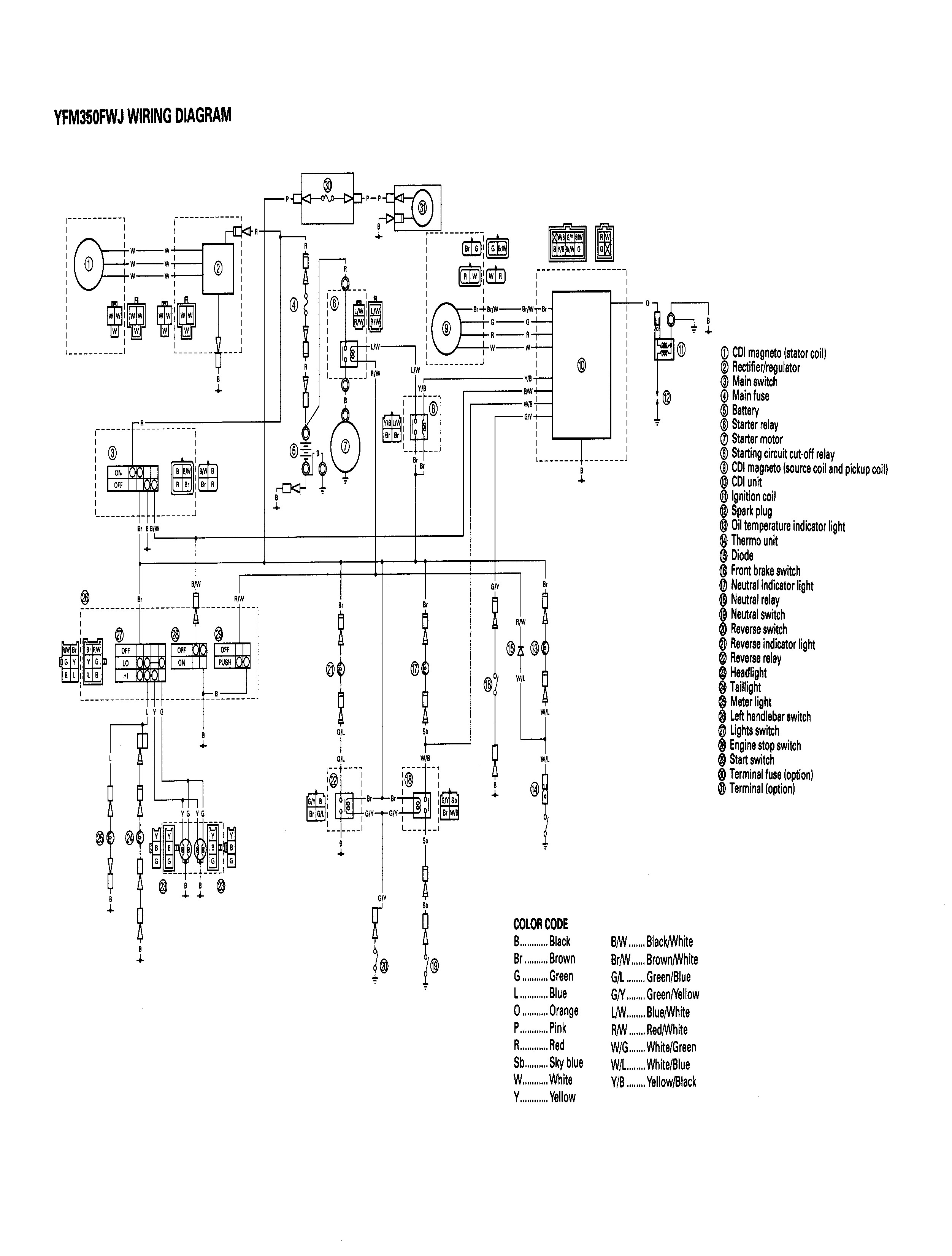 87 Yamaha Warrior Wiring Diagram