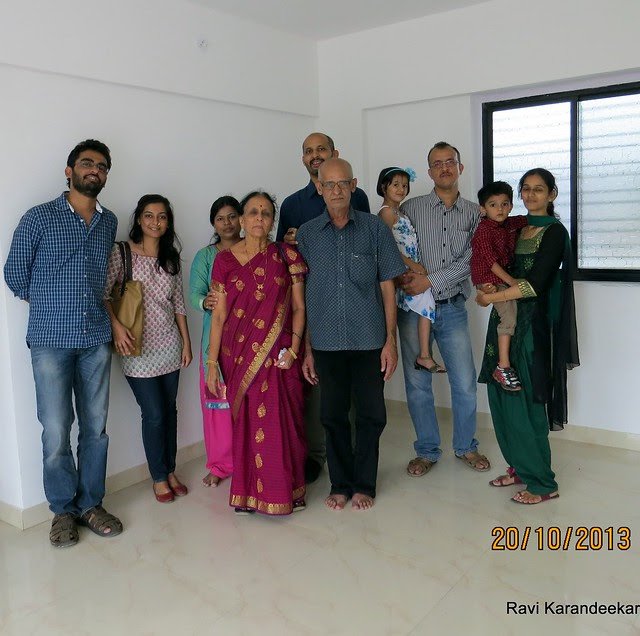 Happy Home Owner Family - Handing Over Ceremony of Sanjeevani Developers' Sangam at Sus on Sunday 20th October 2013