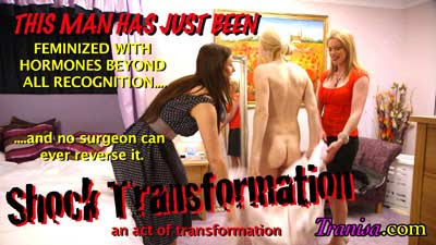 Wife catches transvestite husband