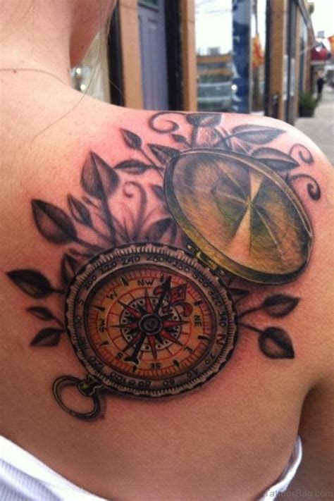 amazing compass tattoos shoulder