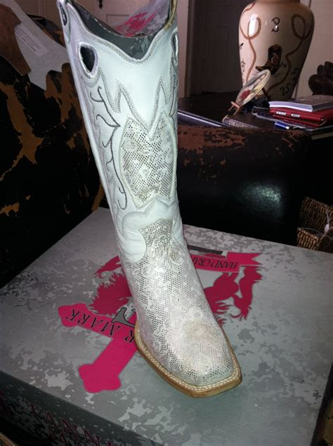 white wedding cowboy boots  party bridal attire