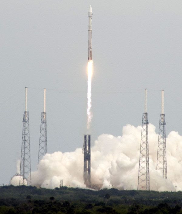The MAVEN spacecraft is launched from Cape Canaveral Air Force Station in Florida on November 18, 2013.