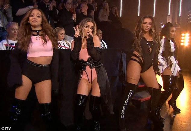 Perrie striked volta: na versão da noite de domingo do Fator X, Perrie Edwards garantiu que ela teve a última risada quando ela se apresentou ao lado de seus companheiros de banda Little Mix