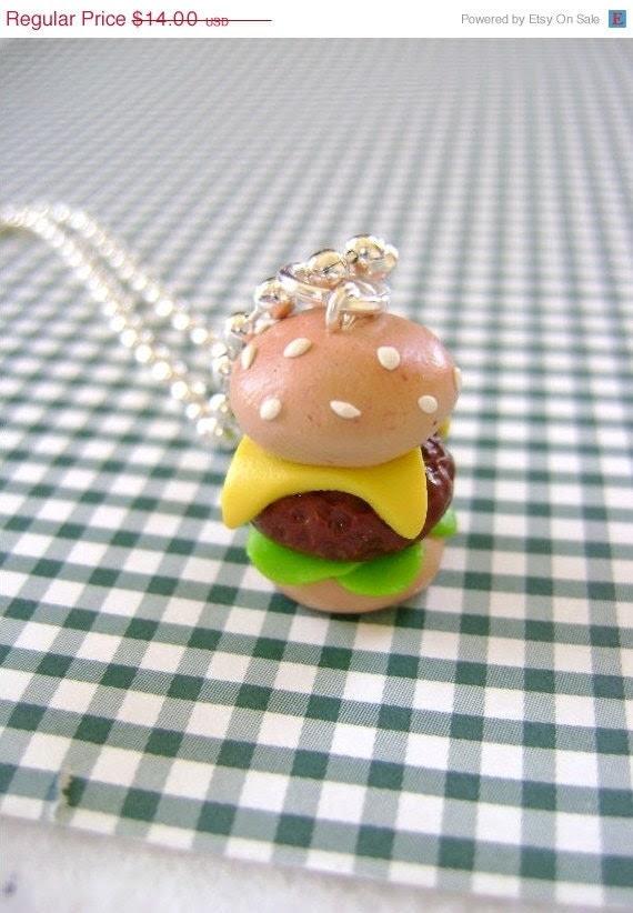 SALE Hamburger Pendant- Small Size