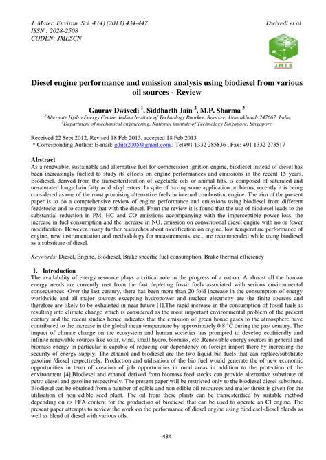 (PDF) Diesel engine performance and emission analysis