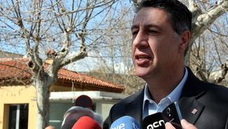 Xavier Garcia Albiol atenent els periodistes aquest dimarts a Viladecans (ACN)