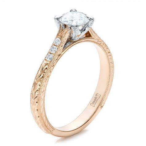 Custom Diamond Engagement Ring #100872   Seattle Bellevue