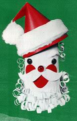 Paper Santa Christmas Card