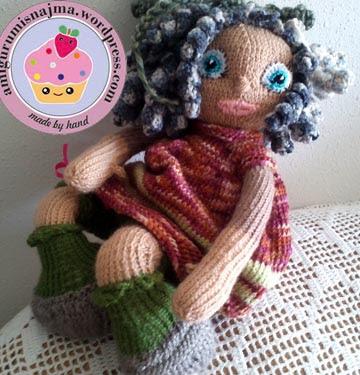 knitted doll muñeca tejida tricot  najma05