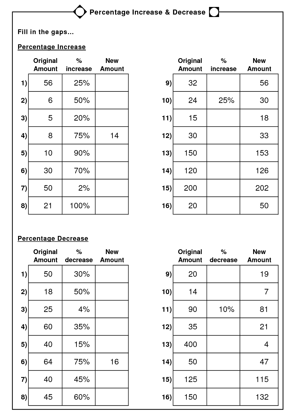 7 Best Images of Percentages Word Problems Worksheets 6th Grade  6th Grade Math Worksheets