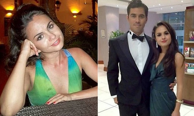 Sophie Rosser (right) who died at 23 after rushing into a burning block of flats trying to save her fiance Oscar Silva (left)