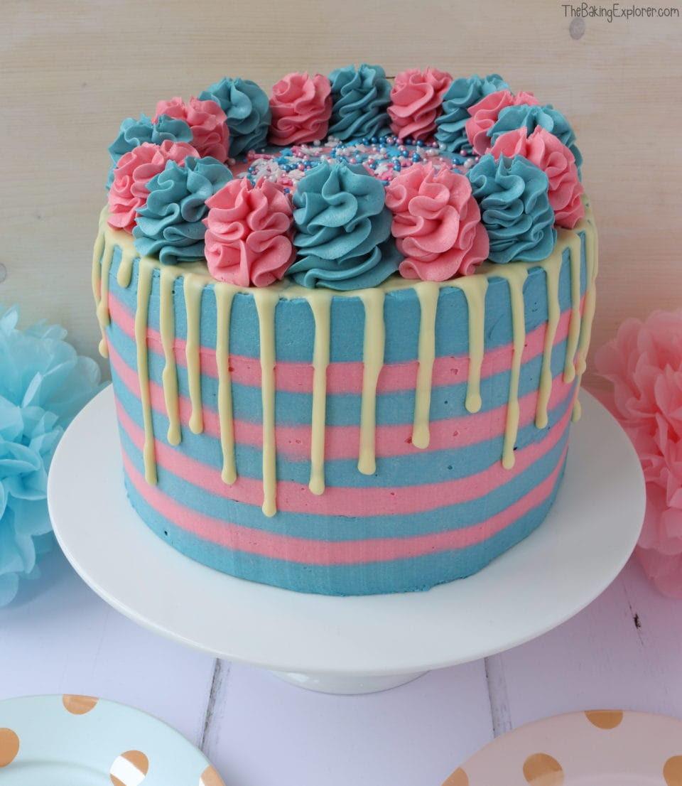 Baby Gender Reveal Cake The Baking Explorer