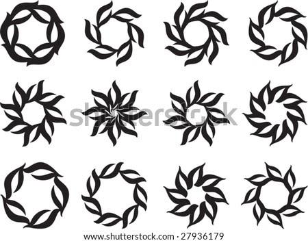 Design Tattoos on Tribal Tattoo Set Sun  Flame Designs Stock Vector 27936179