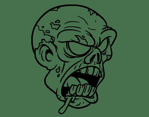 Disegno di Testa di zombie da Colorare - Acolore.com